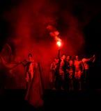 庆祝西班牙胜利 免版税库存图片