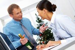 庆祝让新我们年 免版税库存图片