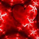 庆祝设计的心脏 与红心框架和白色分数维的爱愉快的情人节卡片以箭头的形式 库存例证
