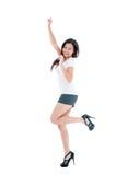 庆祝跳的妇女年轻人 库存照片