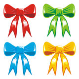 庆祝颜色礼品丝带的弓 免版税库存图片
