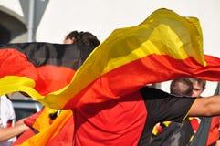 庆祝风扇德国足球胜利 免版税图库摄影