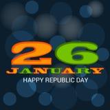 庆祝1月26日,共和国天在印度 库存照片