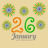 庆祝1月26日,共和国天在印度 库存图片