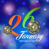 庆祝1月26日,共和国天在印度 免版税库存图片