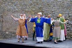 庆祝800年从Dungarvan,县沃特福德 爱尔兰 库存照片