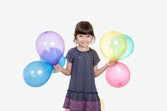 庆祝Eid El Fitr的愉快的女孩 免版税库存图片