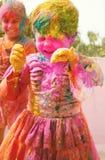 庆祝holi印度 图库摄影