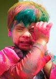 庆祝holi印度 免版税库存图片