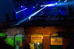 庆祝Kupala夜的开始的参加者在克拉科夫 库存图片