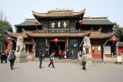 庆阳宫殿在成都 免版税库存图片
