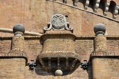 庇护九世徽章在Castel Sant `安吉洛的 免版税库存图片