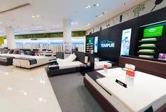 床垫和枕头待售,泰国模范购物中心,曼谷 免版税库存照片