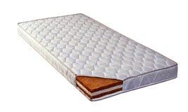 床垫由椰子须根和海绵制成 图库摄影