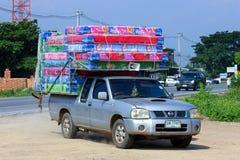 床垫销售的卡车 库存图片