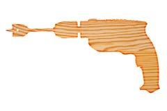 钻床木形状  免版税图库摄影