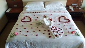 床装饰 库存图片