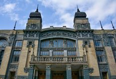 巴库、歌剧和芭蕾舞团城市建筑学  免版税库存图片