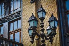 巴库、歌剧和芭蕾舞团城市建筑学  免版税库存照片