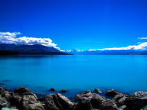 库克山,南岛,新西兰惊人的看法  库存图片