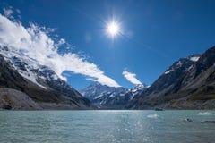 库克山,新西兰风景风景  库存图片