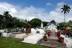 库克群岛人在CICC教会祈祷 库存图片