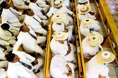 库克群岛人在CICC教会祈祷 免版税库存照片
