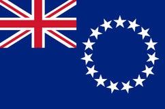 库克群岛国旗,库克群岛准确颜色正式旗子  库存例证