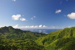 库克群岛山rarotonga视图 图库摄影