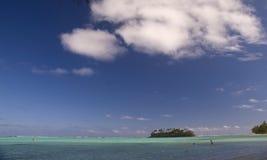 库克群岛盐水湖muri 免版税库存照片