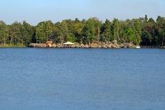 水库在清迈,泰国 免版税库存照片