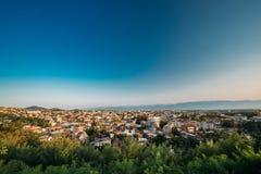 库塔伊西,乔治亚 都市风景在晴朗的秋天 库存照片