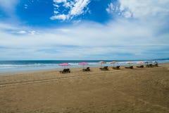 库塔海滩在巴厘岛印度尼西亚 图库摄影