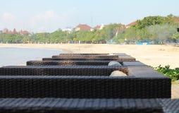 库塔海滩,巴厘岛看法  图库摄影