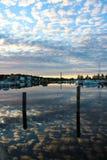 库奥皮奥港口在夏天 免版税库存照片