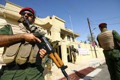 库尔德人的战士 免版税库存图片