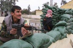 库尔德人的peshmerga 免版税库存图片