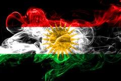 库尔德斯坦拷贝五颜六色的抽烟的旗子2018年 皇族释放例证