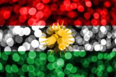 库尔德斯坦拷贝摘要模糊的bokeh旗子 圣诞节、新年和国庆节概念旗子 库存例证