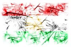 库尔德斯坦拷贝烟花闪耀的旗子 新年2019年和圣诞晚会概念 皇族释放例证