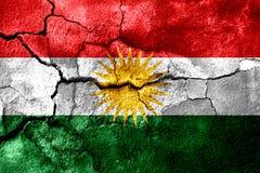 库尔德斯坦拷贝生锈了纹理旗子,生锈的背景 皇族释放例证