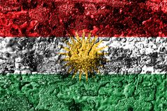 库尔德斯坦拷贝难看的东西生锈了金属纹理旗子,铁锈金属背景 向量例证
