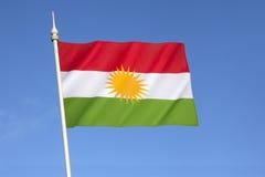 库尔德斯坦的旗子 免版税库存照片
