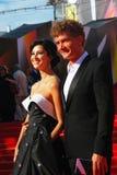 库尔科娃和Bachurin在莫斯科电影节 库存图片