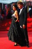 库尔科娃和Bachurin在莫斯科电影节 免版税库存图片
