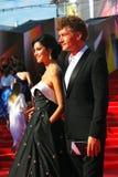 库尔科娃和Bachurin在莫斯科电影节 免版税图库摄影