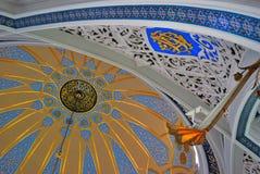 库尔谢里夫清真寺内部在喀山克里姆林宫,俄罗斯 库存照片