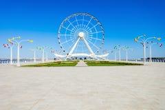 巴库弗累斯大转轮,阿塞拜疆 免版税库存照片