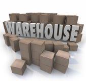 仓库把存货管理存贮装箱 库存例证