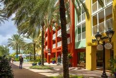 库拉索岛,加勒比,都市风景 库存图片